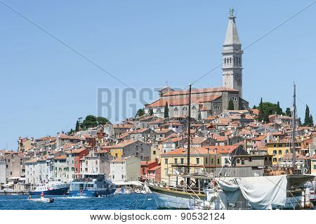 Saint Eufemia Church And Bell Tower In Rovinj