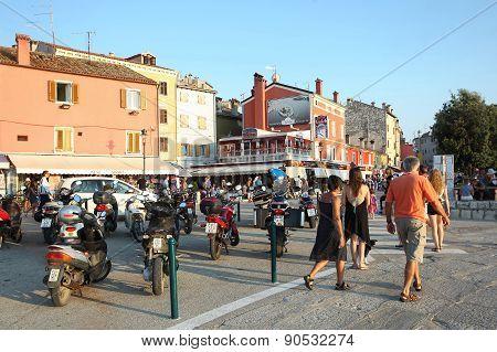 Tourists In Rovinj