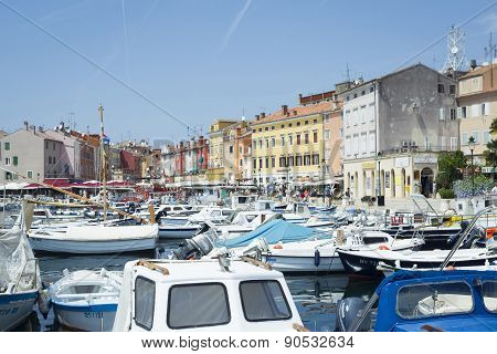 City Promenade In Rovinj
