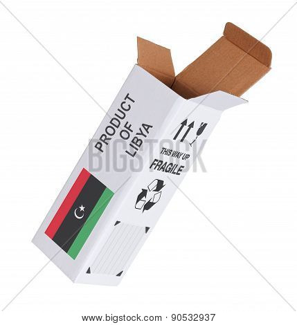 Concept Of Export - Product Of Libya