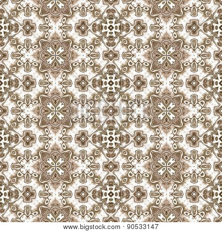 Seamless Kaleidoscope Texture Or Pattern In Brown 3