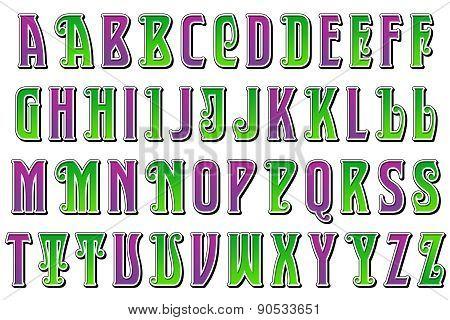Mardi Gras Jester Alphabet