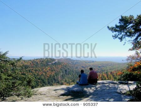 Couple And Landscape