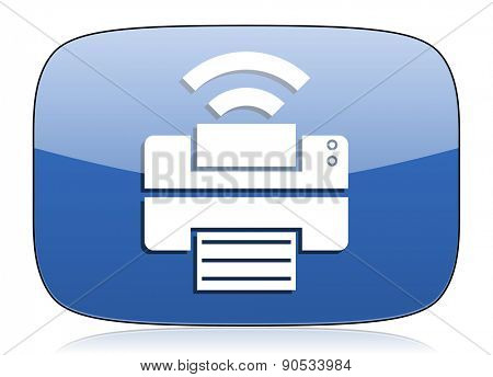printer icon wireless print sign