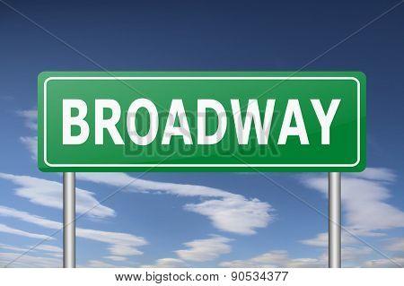 broadway traffic sign