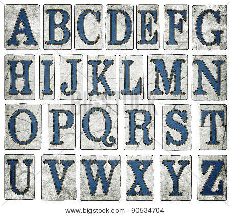 Vintage Wooden New Orleans Street Tiles Alphabet