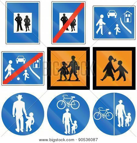 Person And Children Signs In Austria