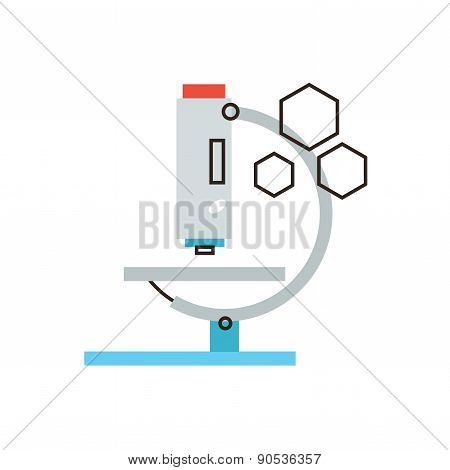 Microscope Analysis Flat Line Icon Concept
