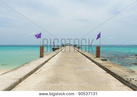 Berths Taphao beach on Koh Kood(Kood island) ,Trat Thailand