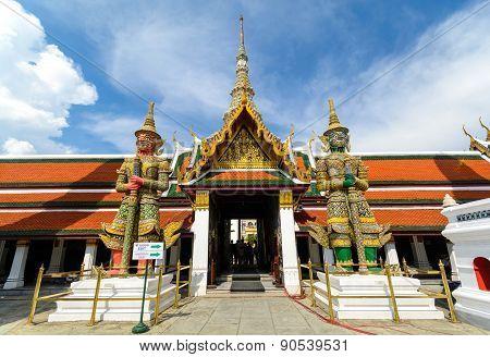 Giant In Wat Phra Kaew Temple, Bangkok Thailand