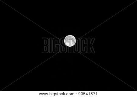 Bright Moon In The Dark Sky