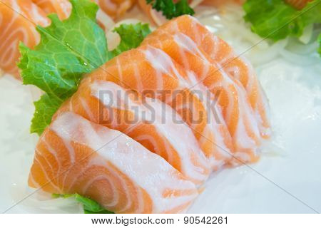 Sliced Raw Salmon, Salmon Sashimi