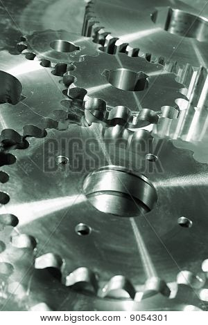 titanium and steel gear
