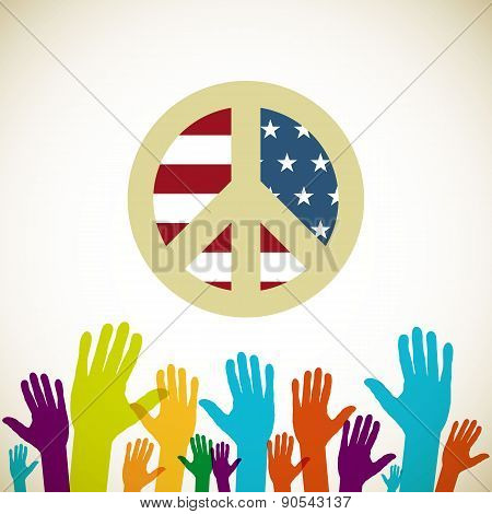 Illustration Of Usa Elections, Political Campaign Usa, Vector Illustration