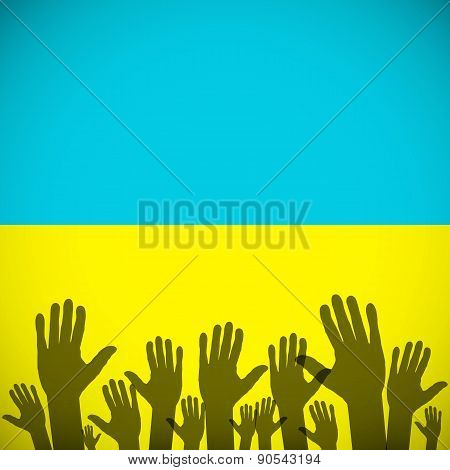 Ukraine Coat Art Background Sign Country