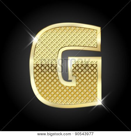 Vector metal gold letter G