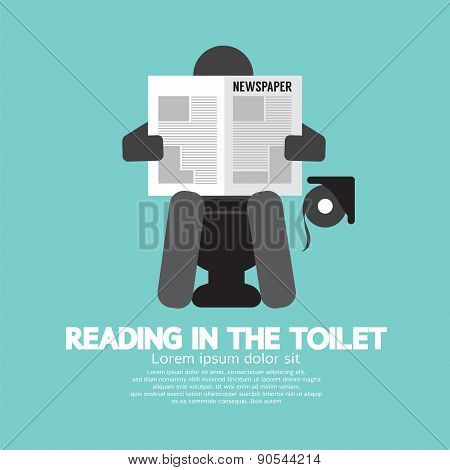Reading In The Toilet Symbol.