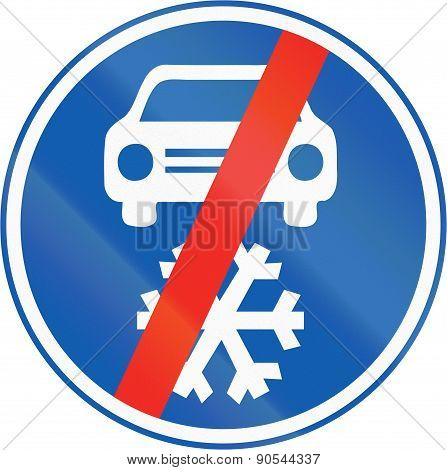 Winter Tires Not Mandatory In The Czech Republic