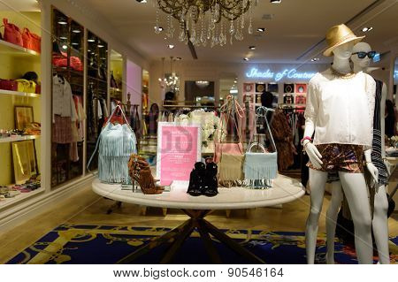 HONG KONG - MAY 06, 2015: Hong Kong shopping mall interior. Hong Kong shopping malls are some of the biggest and most impressive in the world