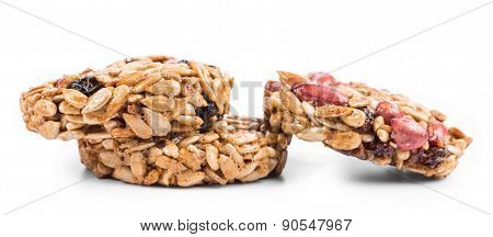 Stack of sunflower seeds in sweet syrup.
