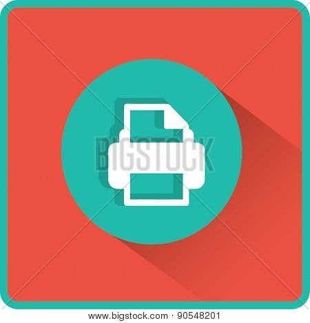 Flat Vector Printer Icon