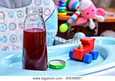 The Juice Is Dark Red In Color