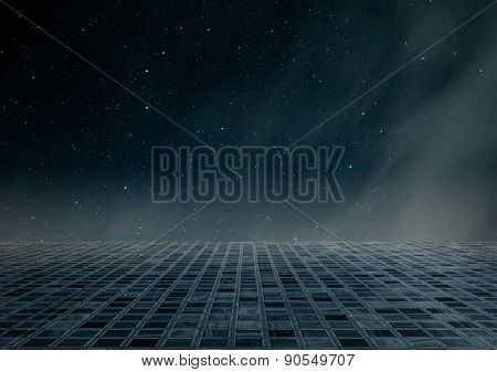 dark night sky and floor