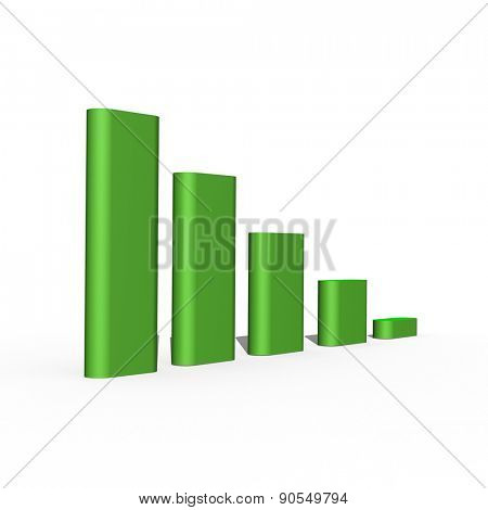 green growing 3d bars showing money growing
