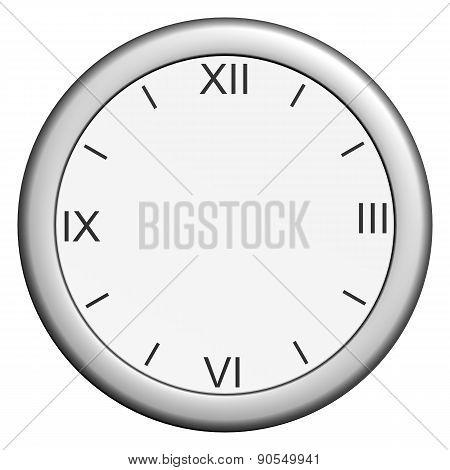 Round clock without hands