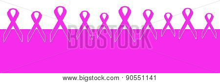 Breast Cancer Pink Ribbon Horizontal Background
