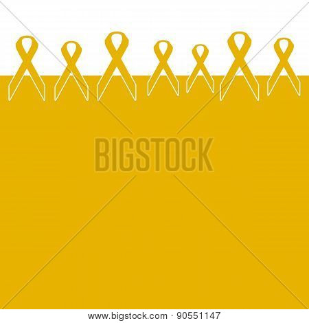 Childhood Cancer Ribbons Background