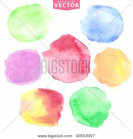 Watercolor stains.Soft,cute colors