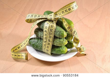 Cucumbers With  Measuring Tape