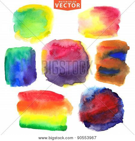 Watercolor stains.Mix colors