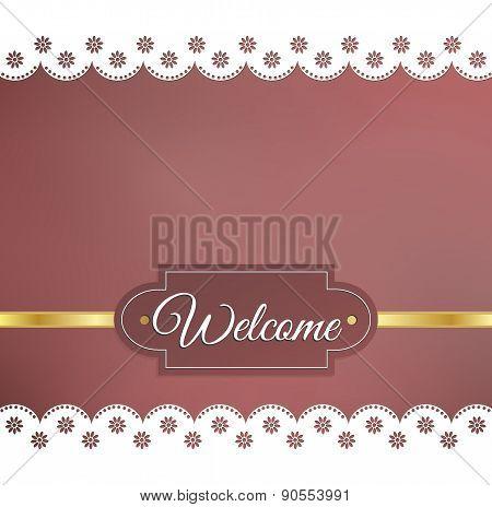 Blurred Background Napkin Welcome