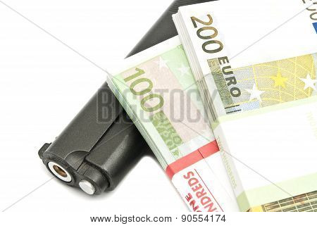 Banknotes And Gun