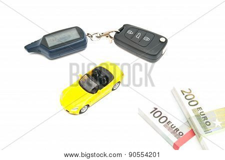 Sport Car, Keys And Money