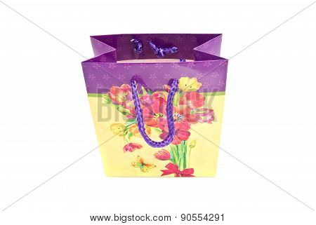 Colored Gift Bag On White