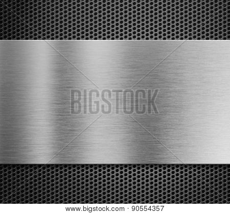 aluminum metal plate over grill background