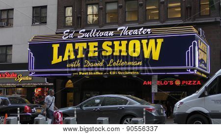 CBS Late Night Show Entrance Sign