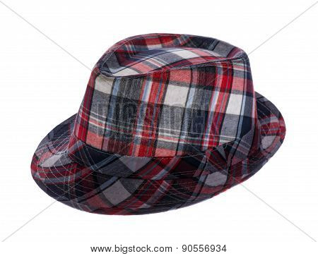 Hat With Fields In A Cage  On White Background