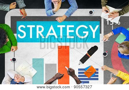 Business Strategy Tactics Figures Concept