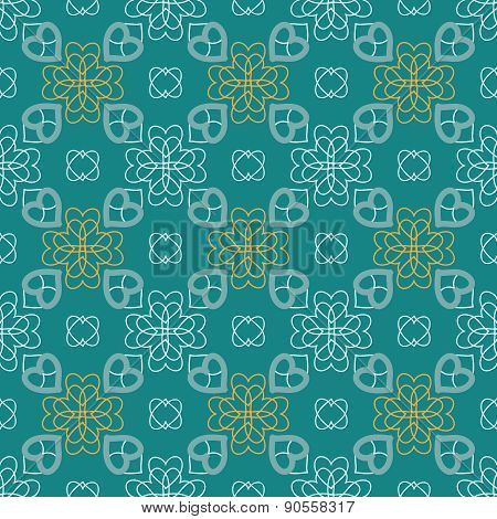 Charming Seamless Pattern With Flowers Of Hearts