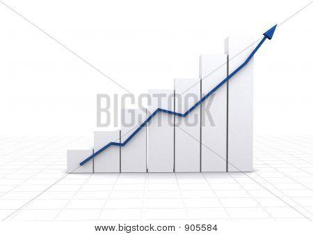Estatísticas das empresas - gráfico de branco