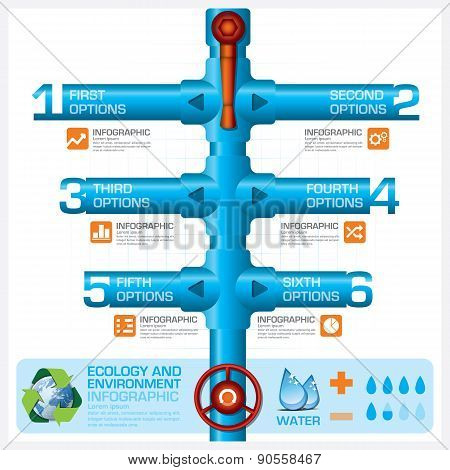 Water Pipeline Ecology And Environment Business Infographic