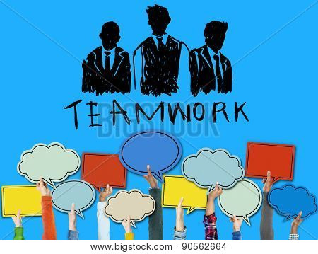 Teamwork Group Collaboration Organization Concept