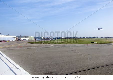 Aircraft Heading To Take Off