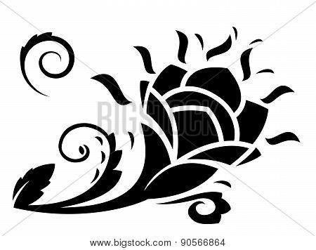 Abstract fantasy flowers illustration