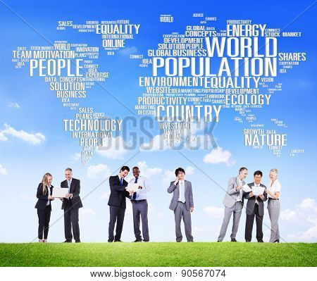 World Population Global People Community International Concept