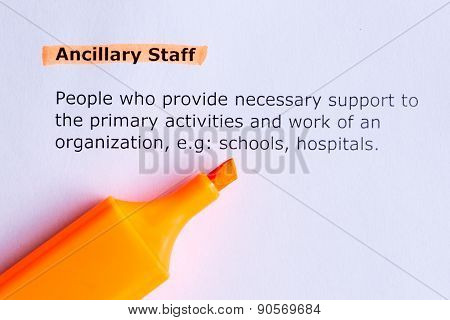 Ancillary Staff